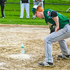 The umpires suspended play during Groton-Dunstable and Nashoba's Sunday April 30, 2017 game in Bolton due to heavy rain. That did not stop the players from having some friendly competition together during the rain delay. Nashoba Valley Voice/Ed Niser