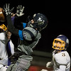 Monty Tech senior Nate Maxner (left) blocks the pass to Nashoba senior Ryan Barnoski during the Thanksgiving Eve game on Wednesday November 23, 2016 between Nashoba Tech and Monty Tech at Nashoba.  (Sentinel & Enterptrise photo/Jeff Porter)