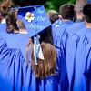 Valedictorian, Alicia Gentile wears an inspirational cap during her graduation at Nashoba Valley Tech. SUN/Caley McGuane