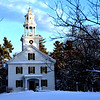 A postcard scene of the church on the common in Old Shirley Center after the recent snowstorms. NVV/ David H. Brow