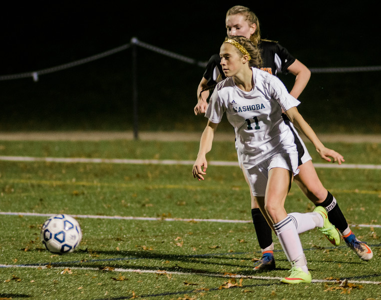 Nashoba's Ashlyn MacLure in action during the Central Mass. Division 1 semifinal game against Marlboro on Thursday evening. SENTINEL & ENTERPRISE / Ashley Green