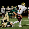 Nashoba's #44 Kyle Hume and #21 Max Parrow brings down the Doherty ball carrier during the Central Mass. Division 2A semifinal on Friday evening. SENTINEL & ENTERPRISE / Ashley Green