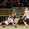 Nashoba's Jake Fire runs the ball during the Central Mass. Division 2A semifinal against Doherty on Friday evening. SENTINEL & ENTERPRISE / Ashley Green