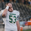 Nashoba's Andrew Pasquale watches the final minutes of the Central Mass. Division 2A title game against Marlboro on Saturday afternoon. Nashoba was defeated 42-21. SENTINEL & ENTERPRISE / Ashley Green
