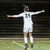Nashoba's Alana Carlucci celebrates after scoring a goal during the Central Mass. Division 1 semifinal game against Marlboro on Thursday evening. SENTINEL & ENTERPRISE / Ashley Green