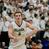 Nashoba's Justin Peirce in action during the Central Mass. Division 2 quarterfinal game against Milford on Thursday, March 2, 2017. SENTINEL & ENTERPRISE / Ashley Green