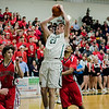 Nashoba's Connor Ojerholm in action during the Central Mass. Division 2 quarterfinal game against Milford on Thursday, March 2, 2017. SENTINEL & ENTERPRISE / Ashley Green