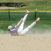 North Middlesex second baseman David Hurley attempts to dive for a play during the game against Nashoba on Tuesday, April 18, 2017. SENTINEL & ENTERPRISE / Ashley Green