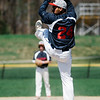 North Middlesex's Brenden Sullivan delivers a pitch during the game against Nashoba on Tuesday, April 18, 2017. SENTINEL & ENTERPRISE / Ashley Green