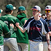 Nashoba and North Middlesex shake hands following the 5-1 Chieftain victory on Tuesday, April 18, 2017. SENTINEL & ENTERPRISE / Ashley Green