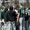 Nashoba huddles up during the game against North Middlesex on Tuesday, April 18, 2017. SENTINEL & ENTERPRISE / Ashley Green