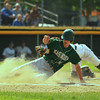 NashobasJonah Lemieux safe back at home after a bad throw to 3rd base getting Nashoba's 1st run