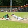 Nashoba's Jack Seeto slides into 2nd base with Casey Boudreau attempting the tag