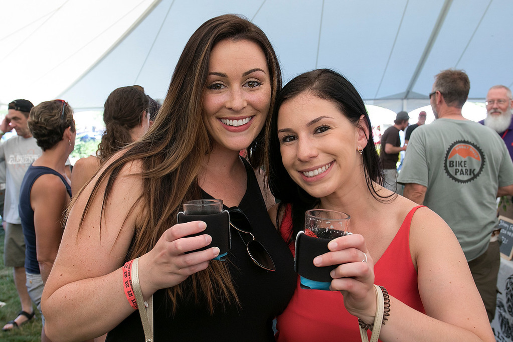 ". The 2019 Nashua River Brewers Festival held at Riverfront Park in Fitchburg Saturday, June 29, 2019. the festival was put on by ""Beers for Good\"" and the City of Fitchburg. Brittany Knowles and Krista Herzberg both of Fitchburg enjoyed sampling the beers. SENTINEL & ENTERPRISE/JOHN LOVE"