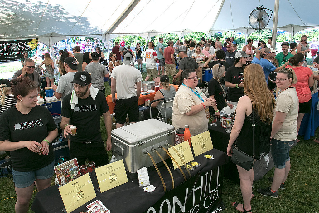 ". The 2019 Nashua River Brewers Festival held at Riverfront Park in Fitchburg Saturday, June 29, 2019. the festival was put on by ""Beers for Good\"" and the City of Fitchburg. SENTINEL & ENTERPRISE/JOHN LOVE"