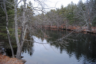 Nashua River, winter, Groton