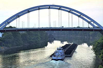 bridge and barge
