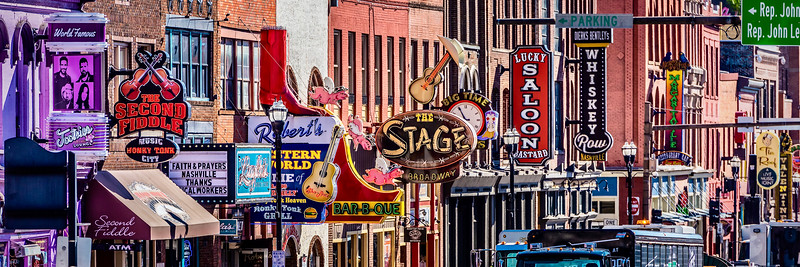 Broadway Bars and Attraction Signs