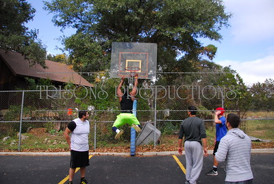 Nasis boys and buds shoot some ghetto hoops at home 11-29-13