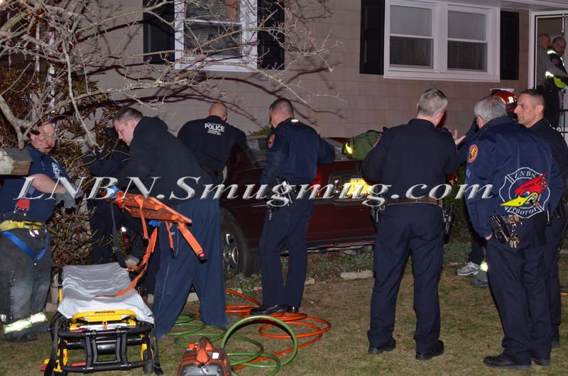 Bellmore F D   Car vs House 2621 S  Saint Marks Avenue 4-6-13-1