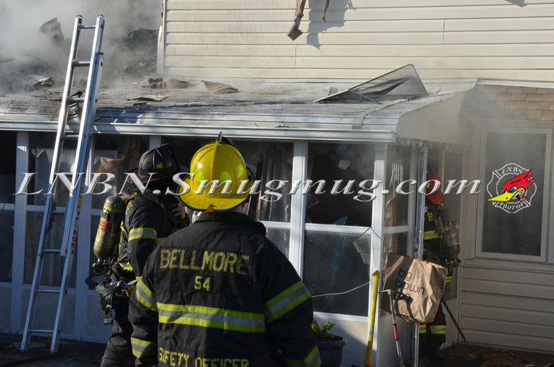 Bellmore F D  House Fire 105 Bellmill Road 11-23-13-17