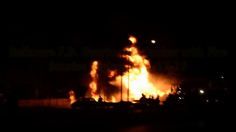 Bellmore F D  Overturned Tanker with Fire Sunrise Highway 12-17-13