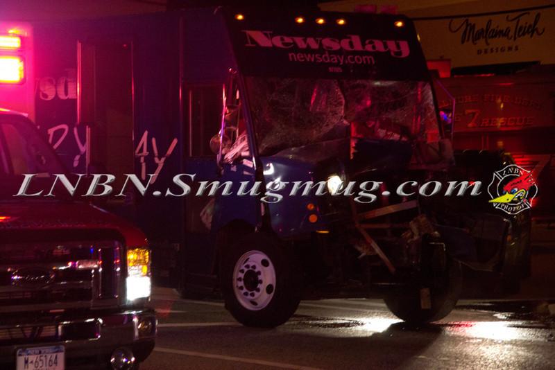 Bellmore F D  Truck vs Post Office Merrick Rd  & Center Ave  9-27-11-1