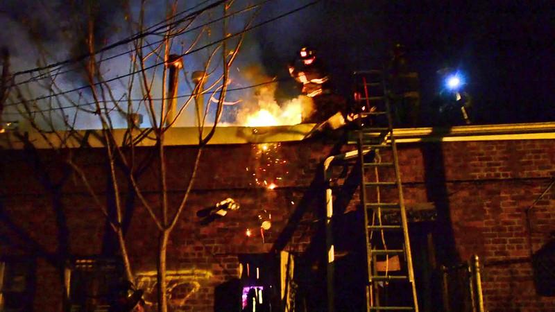 Elmont F D  Building Fire 21 Village Ave 5-3-15
