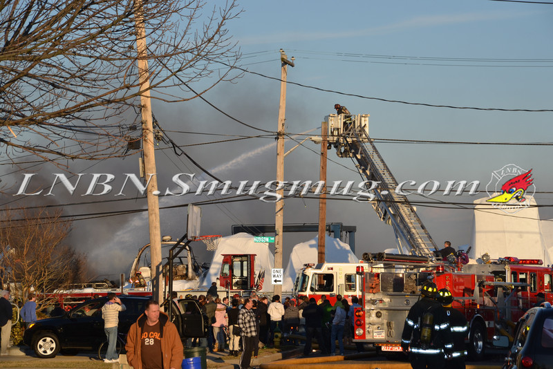 Freeport F D  Boat Yard Fire 11 Hudson Ave 2-1-12-1