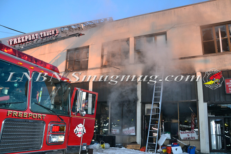 Freeport F D Building fire 9 East merrick Road 2-17-14-1