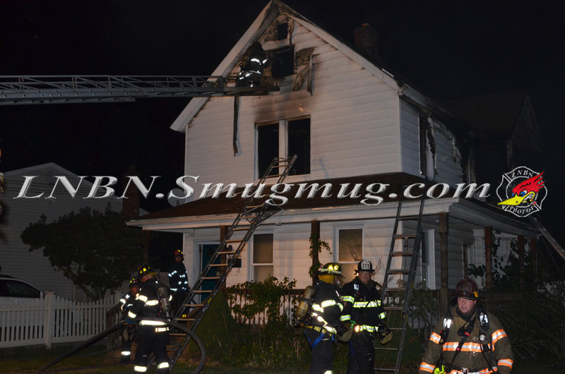 Freeport F D  House Fire Graffing Place 9-3-13-1