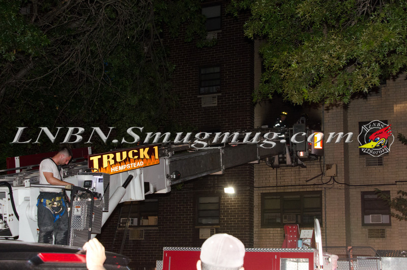 Hempstead F D  Apartment Fire 100 Terrace Ave 7-22-12-1