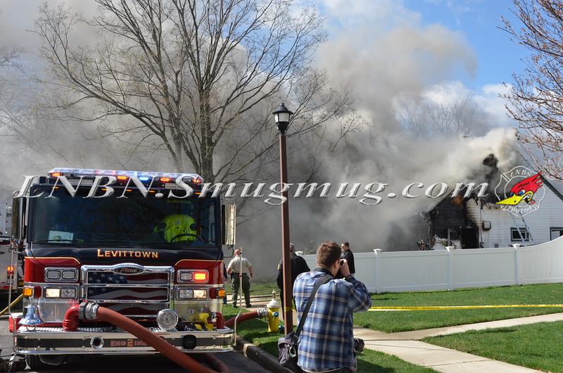 Levittown F D  House Fire 12 Myrtle Lane 4-23-15-1