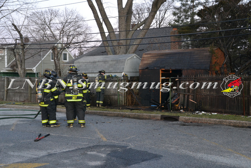 Levittown F D  Shed Fire 154 Ranch Lane 1-8-12-1