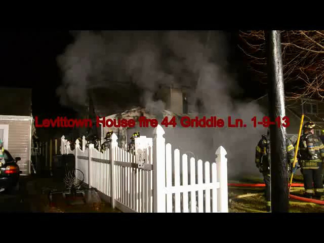 Videos Levittown house fire 44 griddle ln 1-9-13