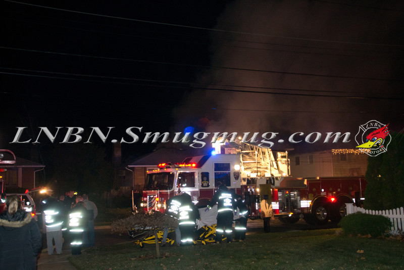 Massapequa F D  House Fire 371 Second Avenue 12-3-11-1