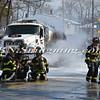 Massapequa F D  Oil Truck Fire Merrick Rd   2-16-14-15