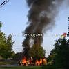 Massapequa F D  Garbage Truck Fire IFO 5 West End Ave  8-17-12-12
