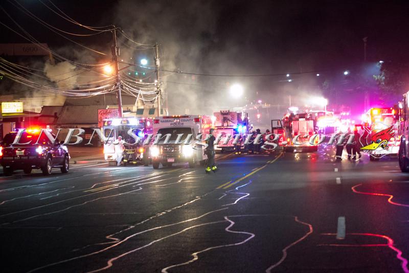 Syosset F D  Building Fire 102 Jericho Turnpike 7-7-12-1