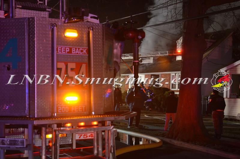 Uniondale F D  House Fire 837 Davis Ave 4-2-14-1