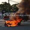 Wantagh F D  Car Fire Merrick Rd  and Beech St  7-17-13-7