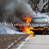 Wantagh F D  Car Fire N-B Wantagh Pkwy at Merrick Rd  3-23-13-2