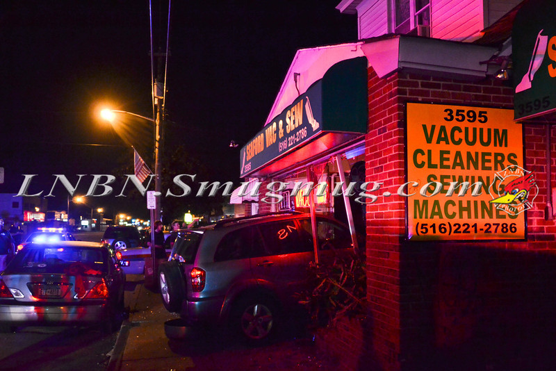 Wantagh F D  Car Into Building 3595 Merrick Road 9-5-2013-1