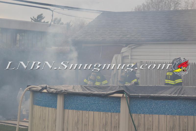 Wantagh F D  Garage Fire 720 Francis Drive 4-9-12-1