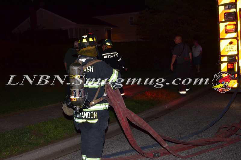 Wantagh F D  House Fire Lynn Lane 6-17-14-1
