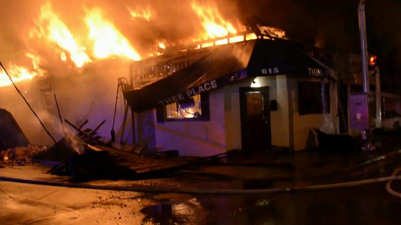Williston Park F D  Building Fire 617 Willis Ave  7-24-14