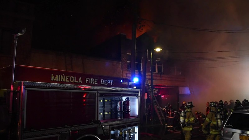 Mineola 5th Alarm Building Fire 03/05/2020