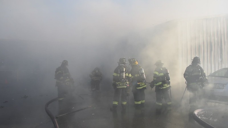 Hempstead 2nd Alarm Building Fire (Hempstead Ford) 03/26/2021