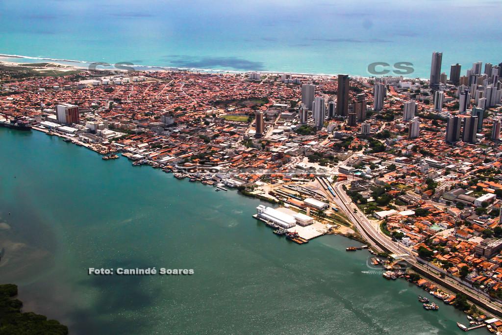 Rio Potengi e  bairro da Ribeira