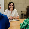 Taylor Landry, Legislative Aide to State Representative Natalie Higgins, speaks to students at Leominster High on Friday, March 10, 2017 during Higgins' office hours at the school. SENTINEL & ENTERPRISE / Ashley Green